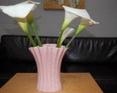 Vintage Bauer Pink Speckleware Tulip Vase