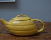 Vintage Bauer Yellow Aladdin Teapot