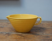 Vintage Yellow Ringware Batter Bowl with Spout