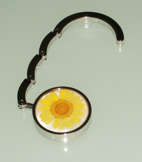 Sunny Sunflower Purse Hook/ Hanger - Bag Hook/ Hanger