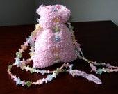 Girlie Girl Hand-knit Drawstring Shoulder Bag