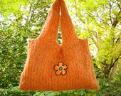 Supersize Flower Power Hand-knit Tote