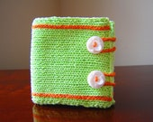 Green Apples Hand-knit Cotton Wallet