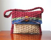 New Englander Hand-knit Wool Handbag/Shoulder Bag