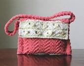 Dainty Roses Hand-knit Cotton Handbag/Shoulder Bag