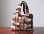 Cottage Country Hand-knit Chenille Mini Tote/Handbag