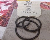 Frameabellies ( circle polymer clay frames, nested set of 3)