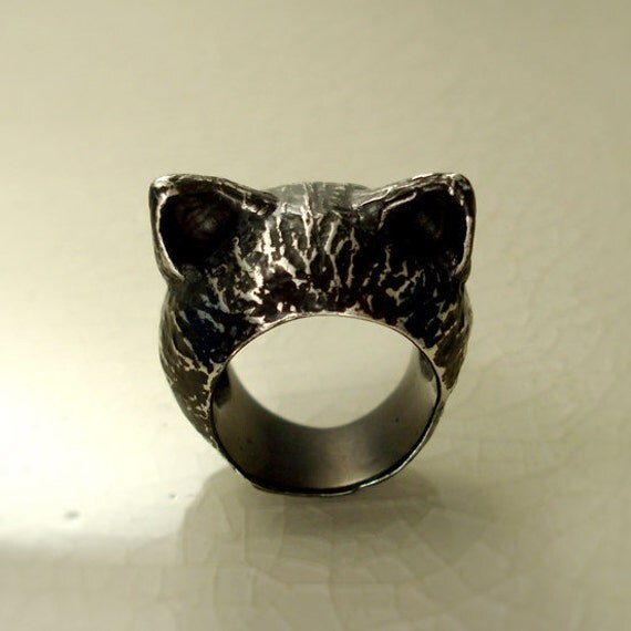 The Black Kitten Ring - RESERVED I