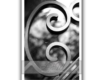 Letter C - 4x6 Individual Alphabet Letter Photo last name letter sign name frame all or desk art black and white letter photography C2