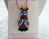 Clay Reindeer Necklace