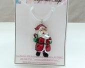 3D Metallic Santa Necklace