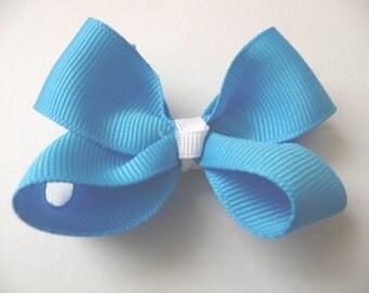 nhb-Small Blue Hair Bow