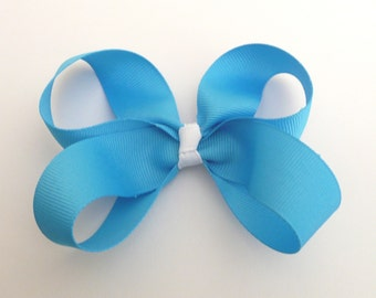 Medium Mystic Blue Hair bow