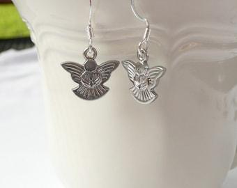 nd-Silver Angel Dangle Earrings
