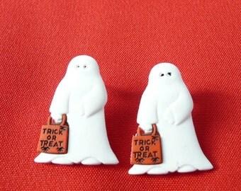 Trick or Treating Ghost Stud Earrings