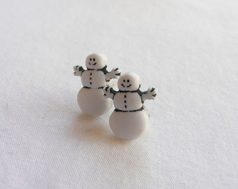 Mini Snowman Stud Earrings