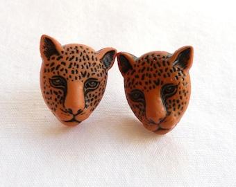 ns-CLEARANCE - Cheetah Stud Earrings