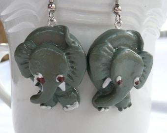 nd-Elephant Dangle Earrings