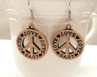 nd-Love and Peace Dangle Earrings
