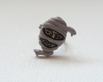 Mummy Face Adjustable Ring