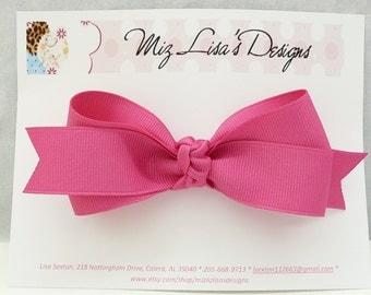 Bright Pink Basic Hair Bow