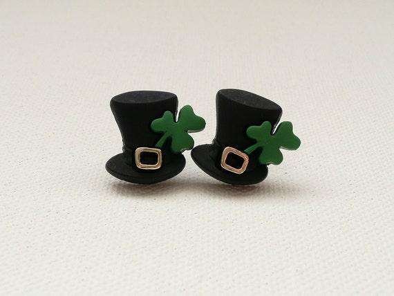 Leprechaun Top Hat Post Earrings