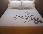 Tree Branch Bird Duvet Cover Queen Bedding King Twin Size Love bird bedding quilt blossom Full Double Queen Size - Pillowcases Not Included