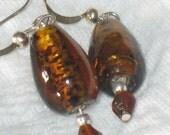 Amber Drop Earrings