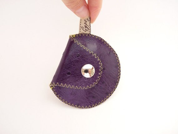 Purple Plum Leather Coin Purse / The Mini Gypsy Change Purse / Only ONE Left