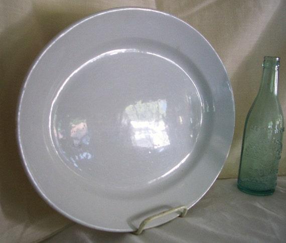 White Ironstone Platter ... 15 x 11...Thomas Elsmore England