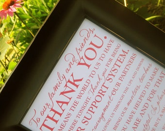 Wedding Thank You Sign 8x10 - Printable - Style S18 - OCTAVIA  COLLECTION
