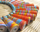 LAST PIECE - Orange Necklace - Indian jewelry - Lightweight necklace - Harvest, Autumn, Mexican, Tangerine Orange, Blue, Spicy