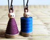 Boy Girl Earrings - 1st anniversary gift - Creative jewelry - Miniature Earrings - Cute Jewelry - Romantic jewelry - Couples jewelry
