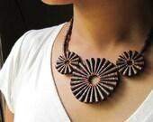 Rustic Treasure Necklace - 1st anniversary gift for her - Paper jewelry - 1st anniversary gift for wife - Paper necklace - Paper Jewellery