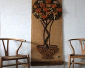 MOD-LOVE SALE!  Mid Century Modern Textile Art Wall Hanging tree of life Yarn Art Wall Tapestry ,Ackerman Style 60s Wall Hanging