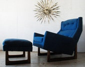 Reserved for Oliver Mid Century Danish Modern sculptural Lounge Chair & Ottoman,adrian pearsall craft associates
