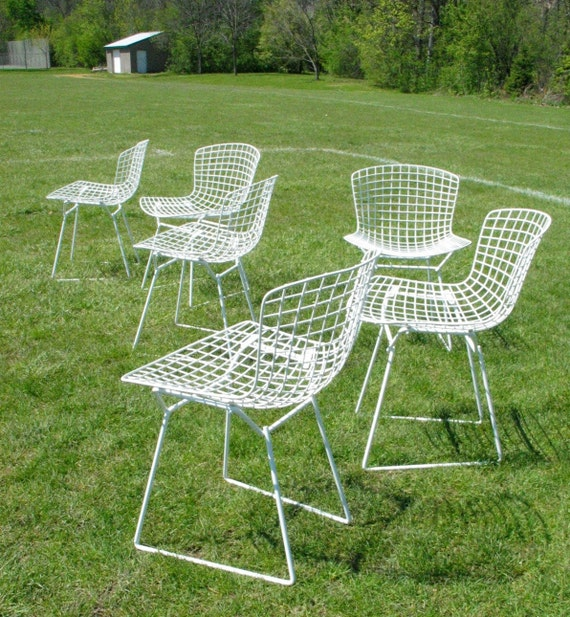RESERVED for Corey-  Six Vintage Knoll Bertoia Chairs dining side chairs