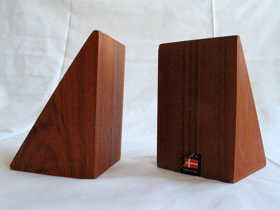 Danish Modern Teak Bookends 1960s Made In Denmark Wegner Era. Sliding Panel Curtains. Floral Sofa. Brown Granite Countertops. Lucite Console Table. Tufted High Back Bench. Eat In Kitchen Table. High End Ceiling Fans. Elmwood Cabinets