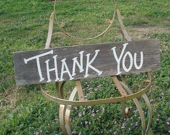 Western Cowgirl Rustic Wood Wedding Bridal Thank You Sign