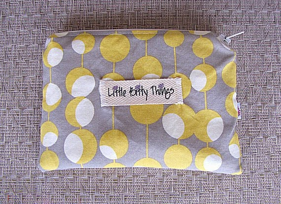 Mini Wet Bag - Amy Butler Midwest Martini Mustard