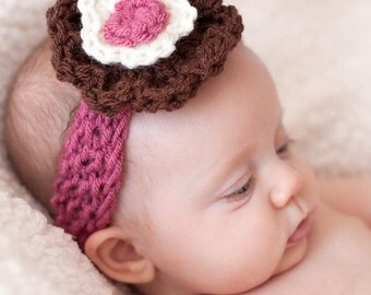 Headband, Baby Headband, Newborn Headband, Baby Girl Flower Headband, Photography Prop