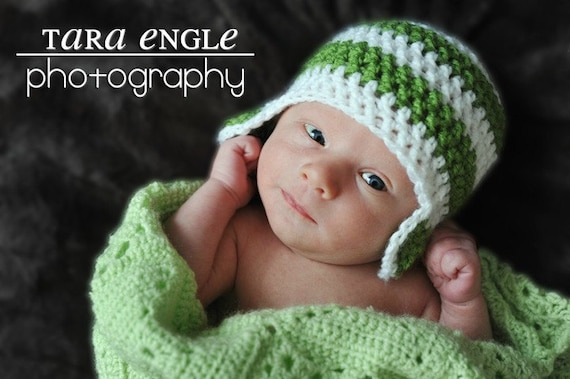 Baby Hat, Newborn Hat, Newborn Baby Earflap Hat, Photography Prop,Choose your Colors