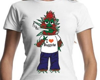 Woman's Original Nugget Character Organic Cotton Fitted T-Shirt