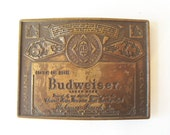 vintage budweiser belt buckle the king of beers anheuser busch mens fashion accessory guy style dude