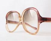 vintage sunglasses italian designer summer sun glasses oversized big eye frames chic glam retro brown neutral beige bohemian boho