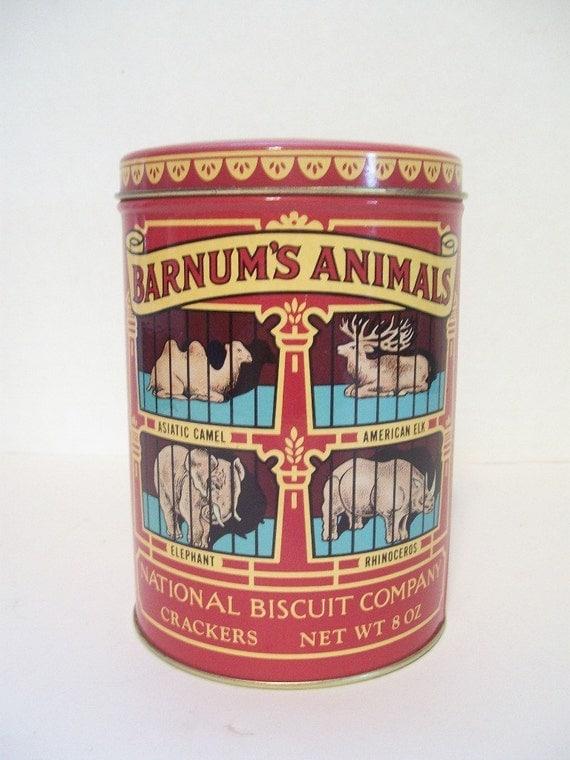 Barnum animal crackers tins 1979 susan