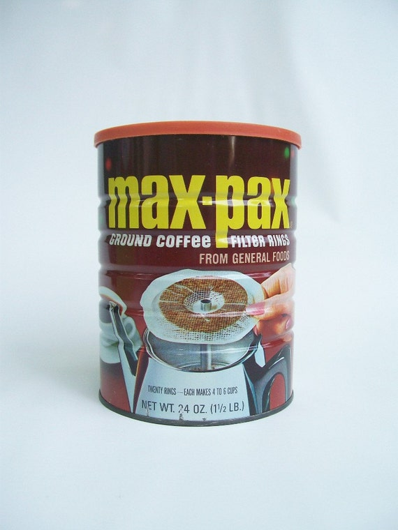 canister vintage coffee can max pax brim coffee tin
