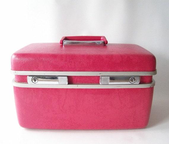 Vintage Pink Train Case Royal Traveller Hot By