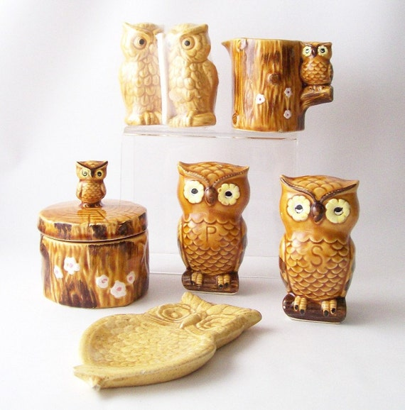 Vintage Owl Kitchen Housewares Collection By Recyclebuyvintage