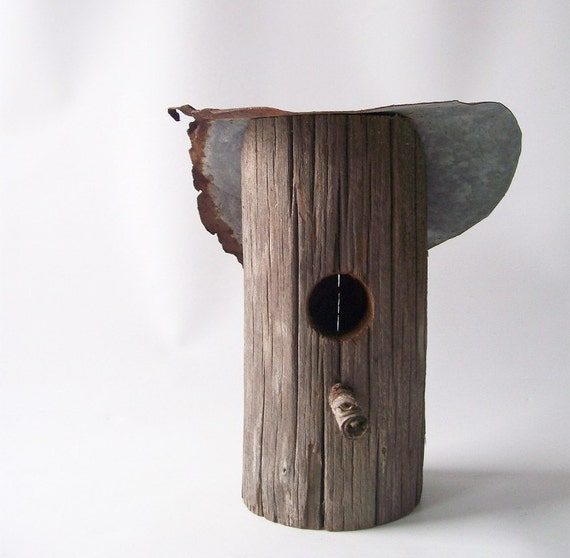 Vintage Bird House Shabby Chic Cottage Rustic By